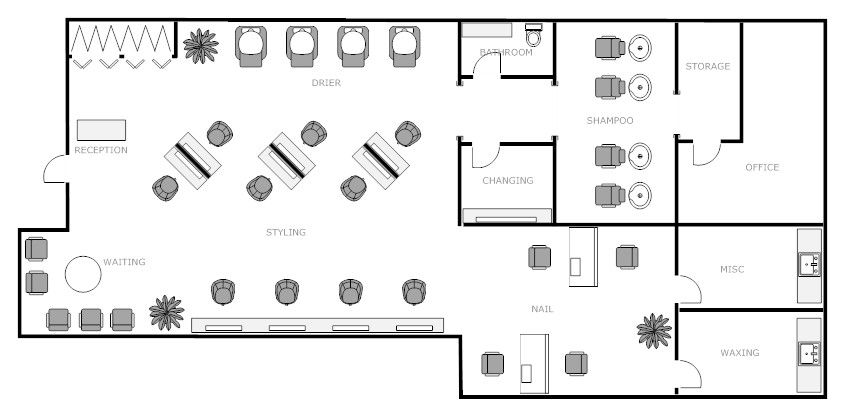 Nail Salon Floor Plans Pdf