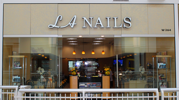nail salon in the mall prices
