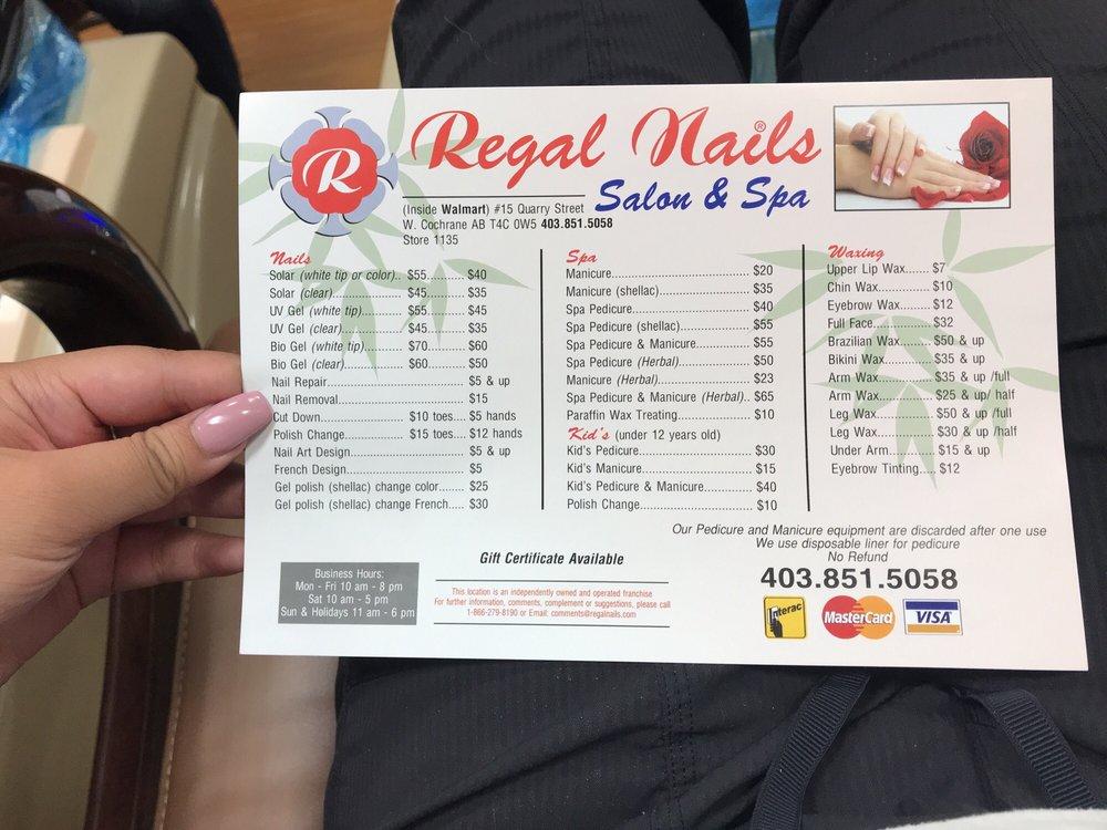 walmart nail salon prices